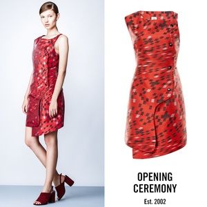 Opening Ceremony Burnt Red Mirrorball Dress